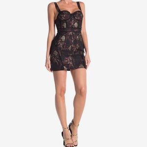 LPA 447 Metallic damask mini dress small